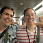 Enrique Sainz con Joaquín de CheeseCake Games
