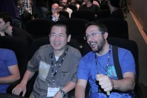 Zoilo flipando con Yu Suzuki