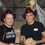 Alex de Ubisoft con Christian Gascón de FrozenShard Games