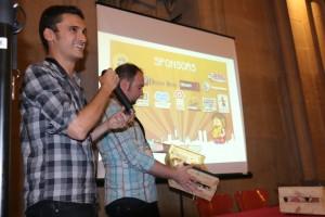 David presenta los premios