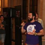 Brain Beard recogiendo el premio de Moros y Cristianos