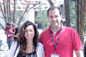 Gisela Vaquero y Carlos Abril
